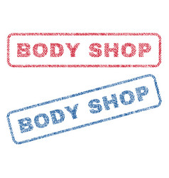 Body shop textile stamps vector