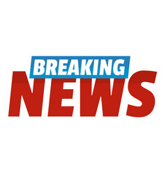 Breaking live news icon flat style vector