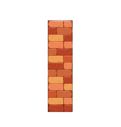 bricks castle tower wall stone vector image