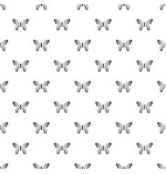 butterfly with dot wings icon simple style vector image