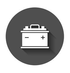 Car battery flat icon auto accumulator battery vector
