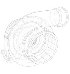 Car turbocharger line background isolated vector