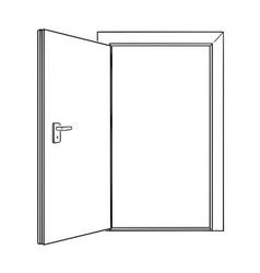 Cartoon drawing of inviting open door vector