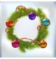 Christmas wreath decorated vector