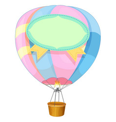 Colorful balloon flying on white background vector