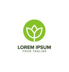creative abstract leaf flower logo design concept vector image