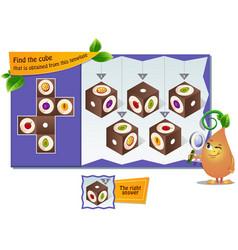 Cube of cherry vector