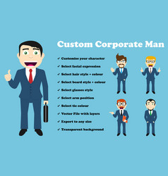 Custom corporate man vector