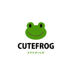 cute frog cartoon logo icon vector image