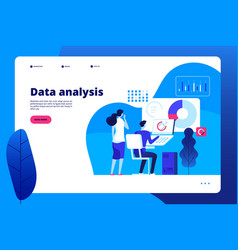 data analysis digital interactive office business vector image