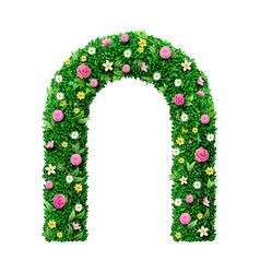 Decorative green wedding flower arch with roses vector