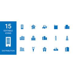 Distribution icons vector
