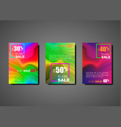 dynamic modern fluid set brochures for flash sale vector image