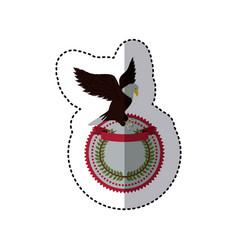 emblem eagle sign icon vector image