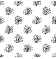 Floral seamless pattern isolated on white vector