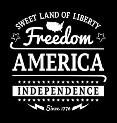 Freedom america vector