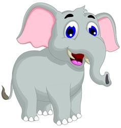 Funny elephant cartoon posing vector