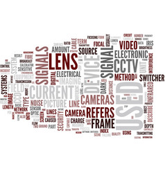 glossary of terms d l cctv text background word vector image
