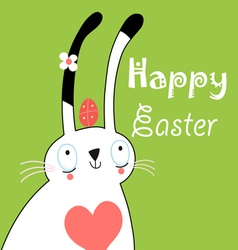 Greeting card with bunny for Easter vector