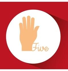 Hand language design vector