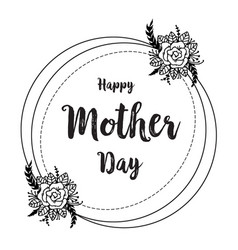 Happy mother day gretting flower card vector