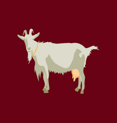 In flat style goat vector