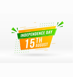 Indian independence day creative abstract banner vector