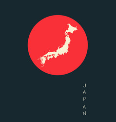 Japan map background vector
