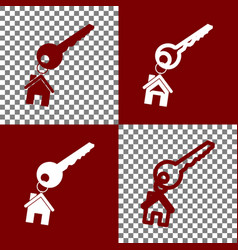 key with keychain as an house sign bordo vector image