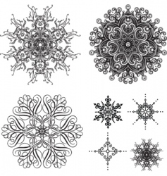 lace elements vector image