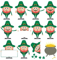 Leprechaun Set vector image
