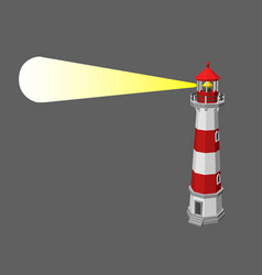 lighthouse isolated on grey background 3d vector image