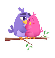 love bird couples male and female animals cute vector image