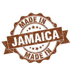 made in jamaica round seal vector image