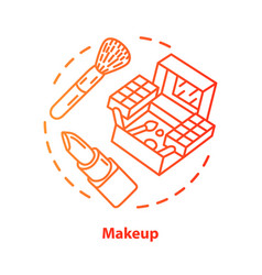 Makeup blue concept icon make up artist kit vector