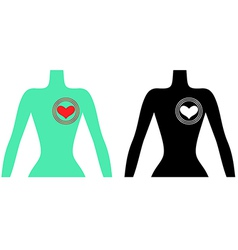 Man heart vector
