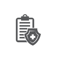 medical insurance icon on white background vector image