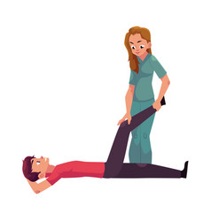Medical rehabilitation movement therapy vector