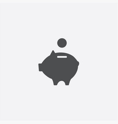 moneybox piggy icon vector image
