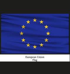 National flag brochure of european nation vector