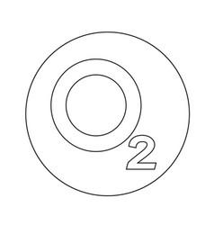 Oxygen o2 icon design vector