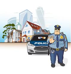 police patrol sheriff vector image