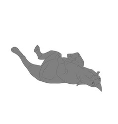Rhino that lies drawing color vector