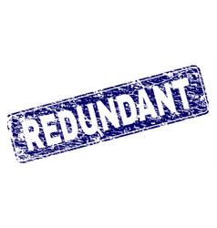 scratched redundant framed rounded rectangle stamp vector image