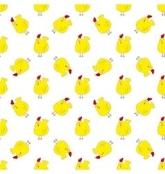 seamless pattern with chickens or roosters vector image