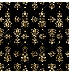 Seamless pattern with luxury damask ornament vector image