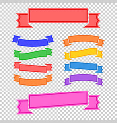 set of colored ribbon banners with space for text vector image