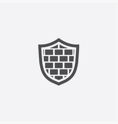shield wall icon vector image