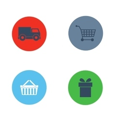 Shop buttons purchase icons set vector