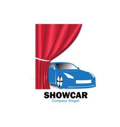 show car logo design vector image